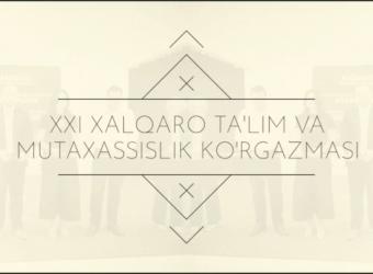 """O'zbekiston Yoshlar Ijodiyot saroyida """"Ta'lim va kasb 2019"""" XXI Xalqaro ko'rgazmasi."""